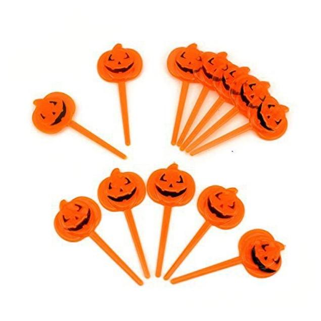 Halloween Plastic Small Orange Pumpkin Party Cupcake