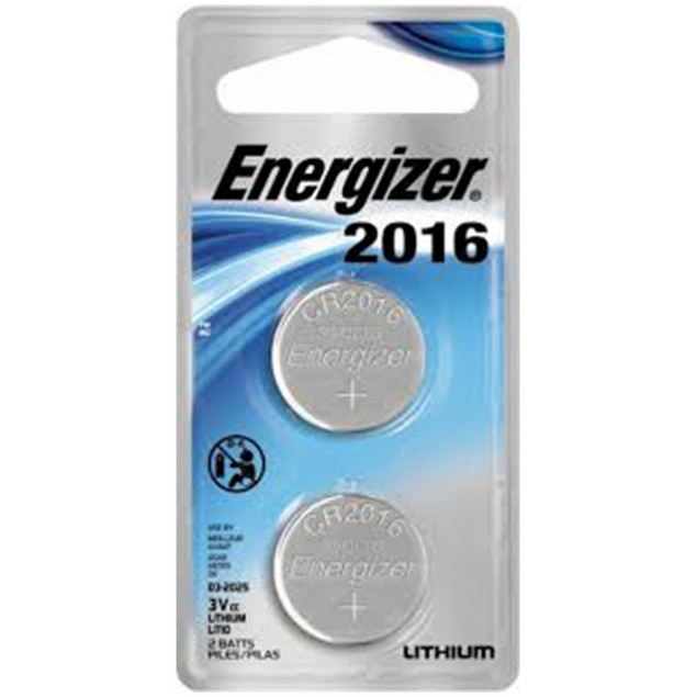 Energizer CR2016 Lithium Coin Cell Battery (2 Batteries)