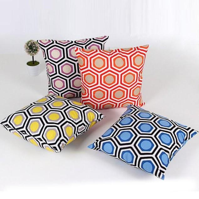 Geometric Shape Sofa Bed Home Decor Pillow Case Cushion Cover