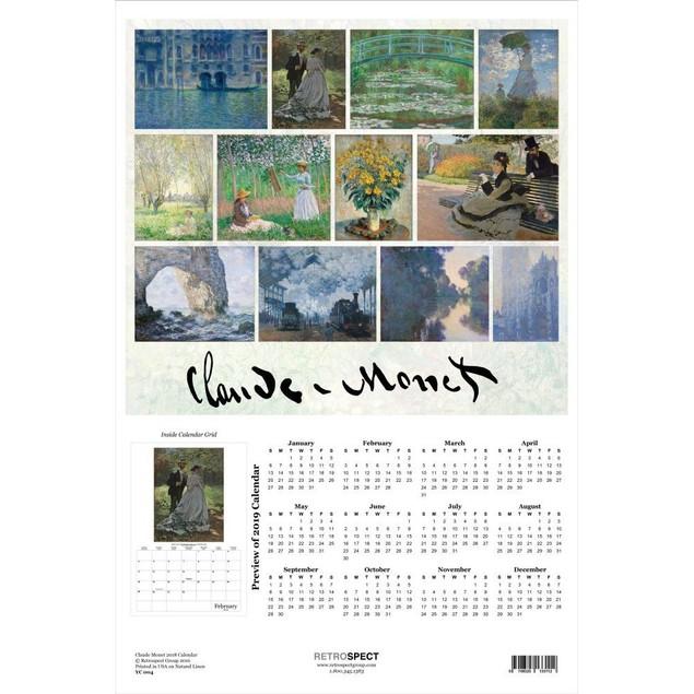 Claude Monet Poster Calendar, Fine Art by Retrospect Group