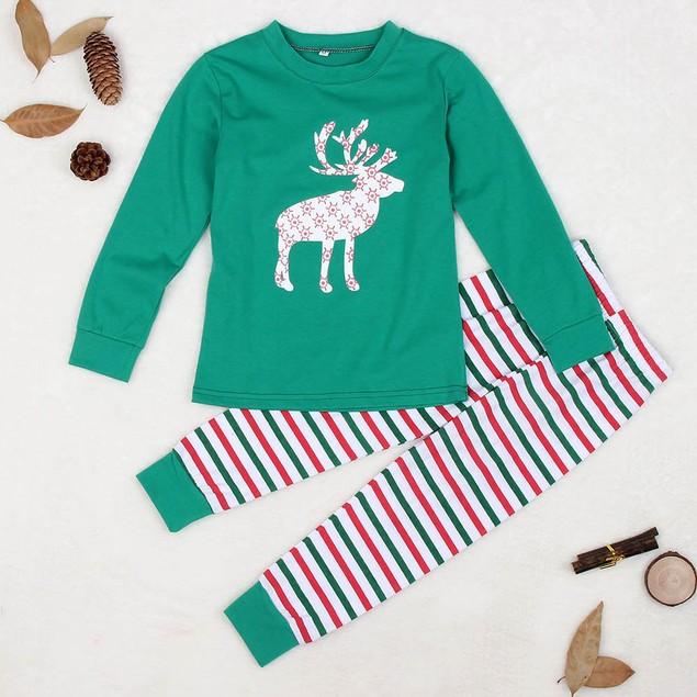 Christmas XMAS Kids Baby Pajamas Set Sleepwear Nightwear Pyjamas