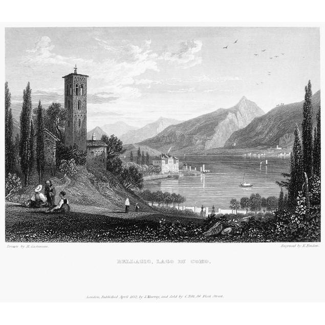 Italy: Bellagio, 1832. /Nlake Como (Lago Di Como) In Bellagio, Italy. Steel
