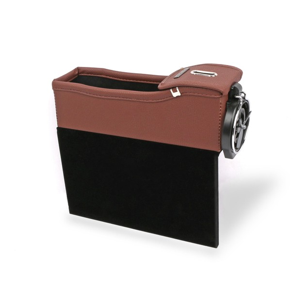 Leather Console Side Pocket Organizer