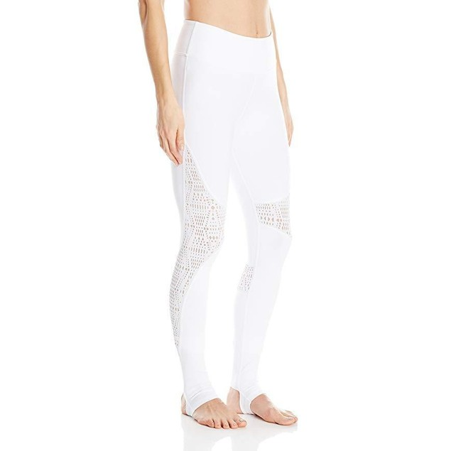 Alo Yoga Women's Coast Legging, White/Buff, SZ L