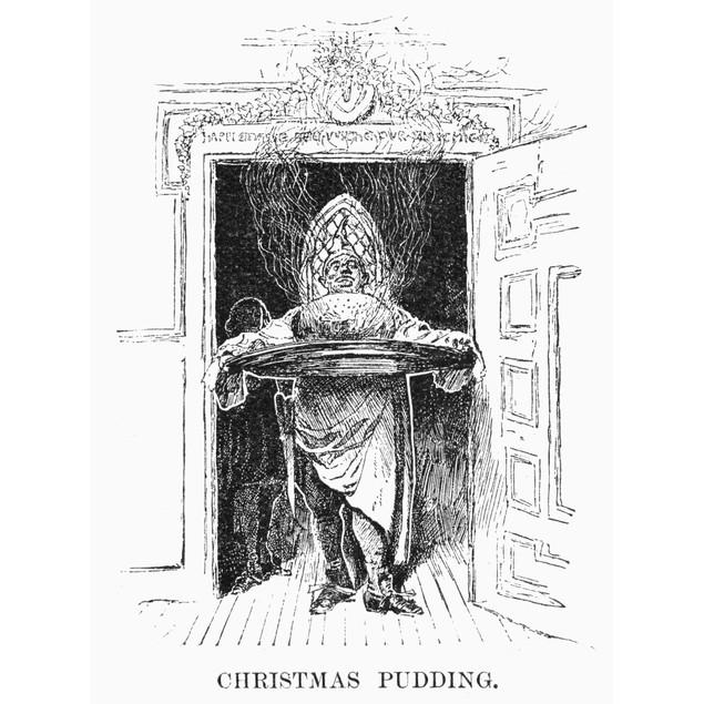 Christmas Pudding, 1882. /Namerican Engraving, 1882. Poster