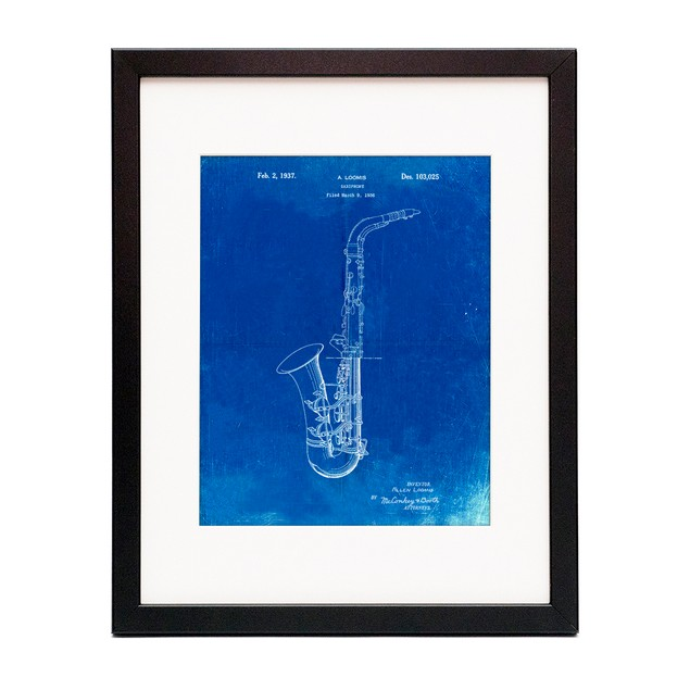 Saxophone Patent Poster