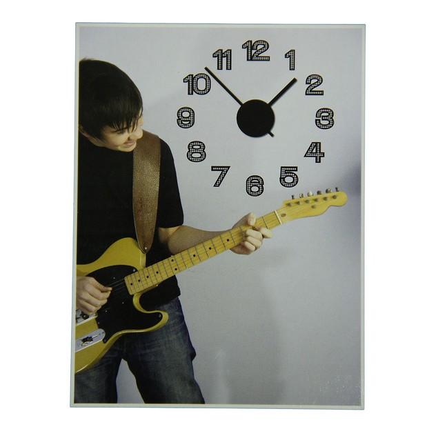 Black And White Harlequin Diamond Pattern Peel And Wall Clocks