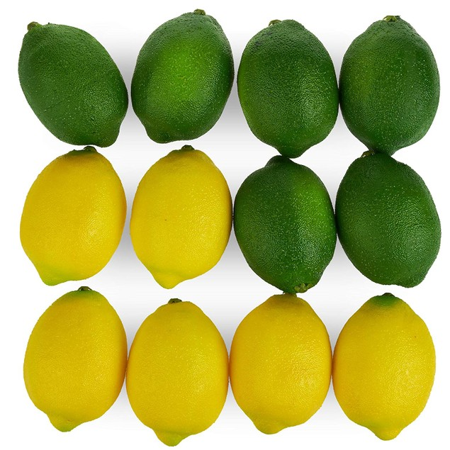 Large Artificial Lemons, Realistic Decorative Home Kitchen Fake