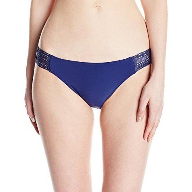 Roxy Women's Sea Lovers Surfer Crochet Bikini Bottom, Blue Depths, SZ: M