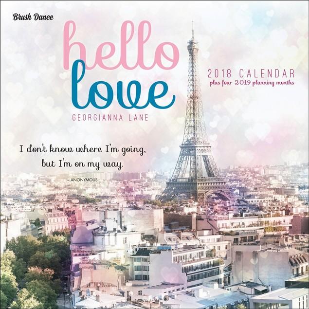 Hello Love Wall Calendar, France by Calendars