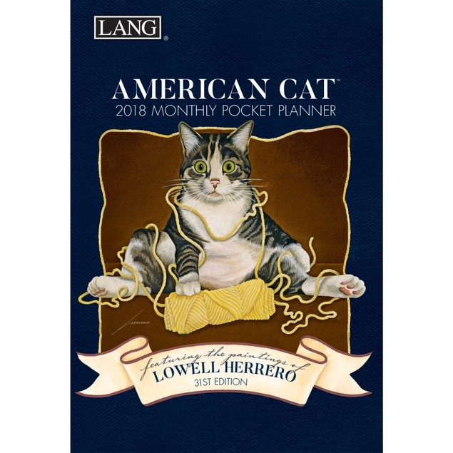 American Cat Monthly Pocket Planner, Cat Art by Lang Companies