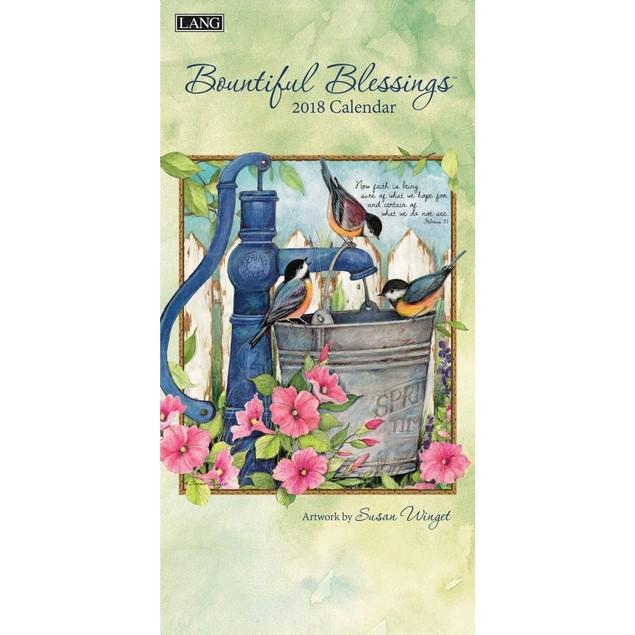 Bountiful Blessings Slim Wall Calendar, Lang Folk Art by Calendars