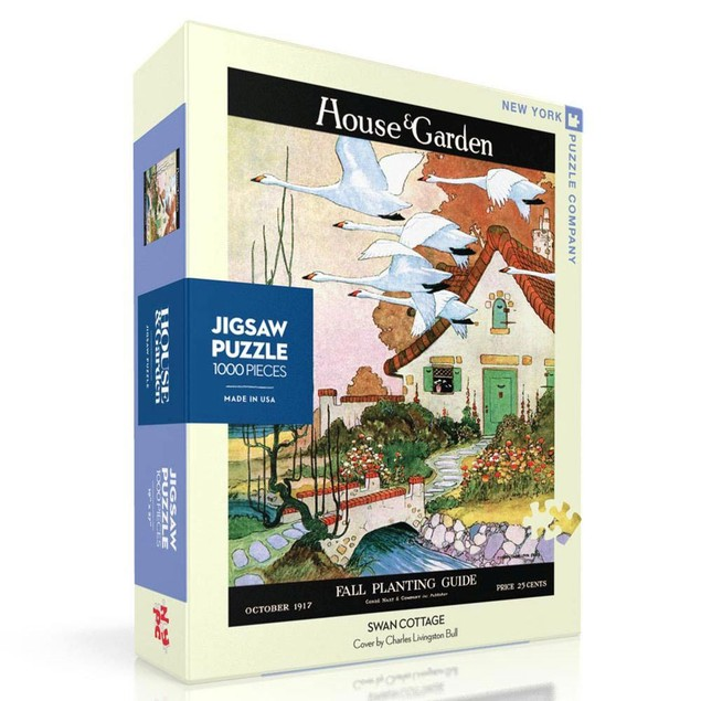 Swan Cottage 1000 Piece Puzzle, Cottage Living by New York Puzzle Company