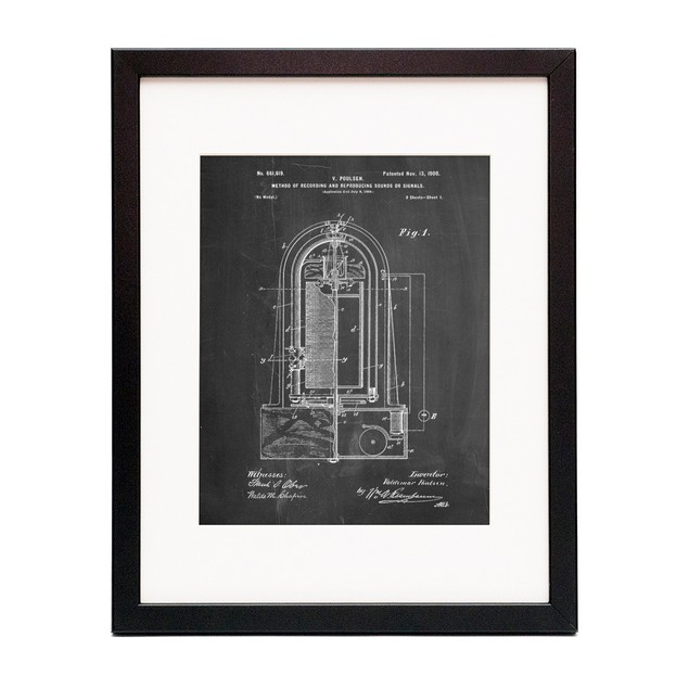 Poulsen Magnetic Wire Recorder 1900 Patent Poster