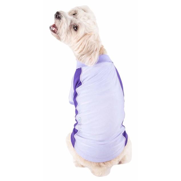 Pet Life Active 'Barko Pawlo' Relax-Stretch Performance Dog Polo T-Shirt