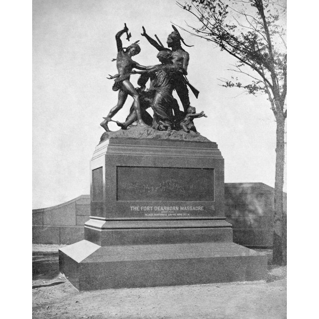 Chicago: Fort Dearborn. /Nthe Monument To The Fort Dearborn Massacre In Chi