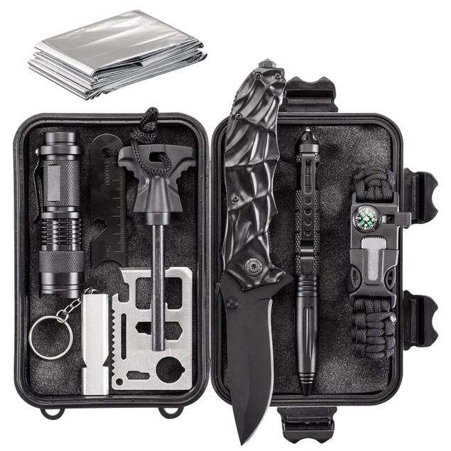 11-in-1 Essential Emergency Survival and Camping Kit