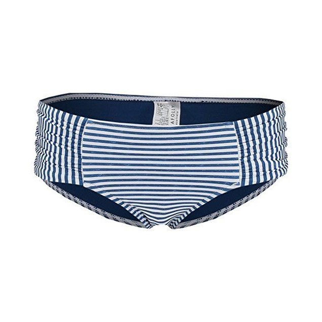 sSeafolly Women's Riviera Stripe Ruched Side Retro Bottoms Black Marle