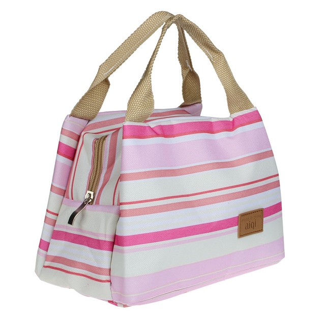 Thermal Insulated Lunch Box Tote Cooler Zipper Bag Bento Lunch Pouch