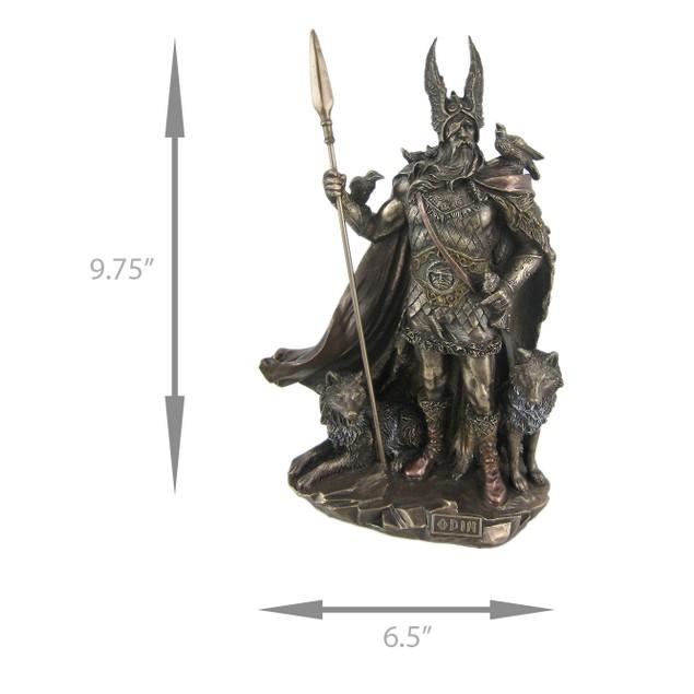 Norse God Odin Bronze Finish Statue Viking Pagan Statues