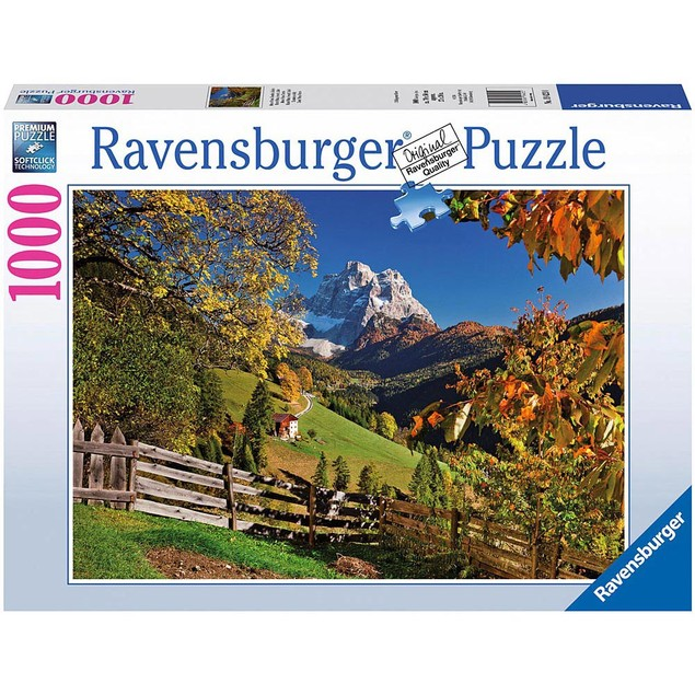 Mountains in Autumn 1000 Piece Puzzle, 1,000 Piece Puzzles by Ravensburger