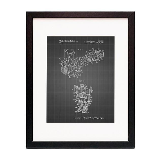 Optimus Prime Patent Poster