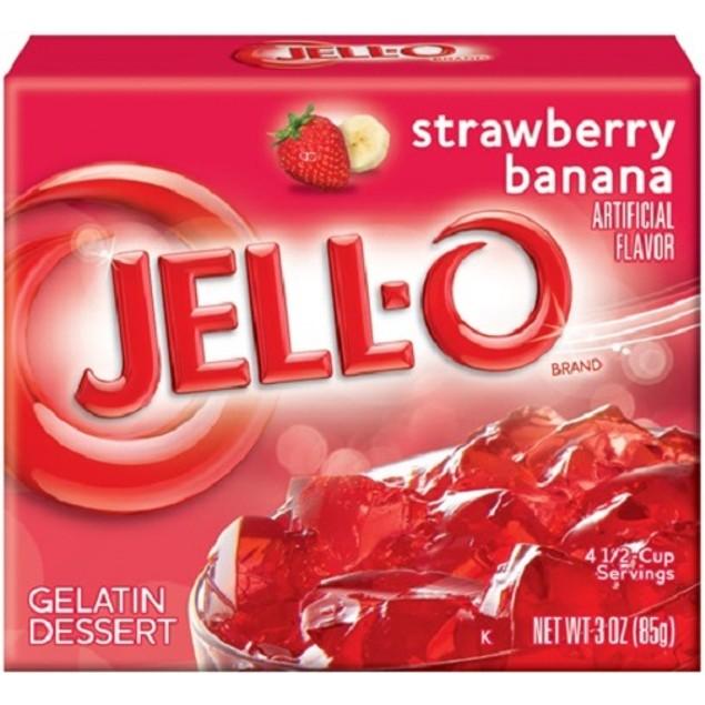 Jell-O Strawberry Banana Instant Jello Gelatin Mix