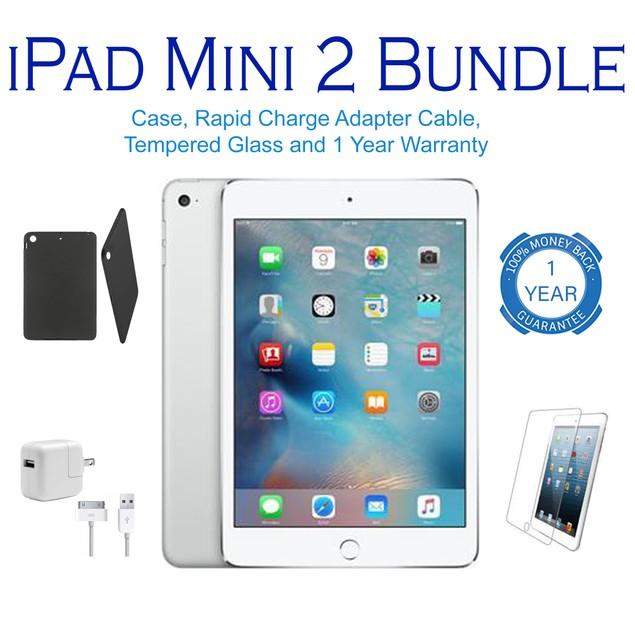 Apple iPad Mini 2 Wifi Bundle 16GB-128GB (Charger, Stylus, Case, Screen)