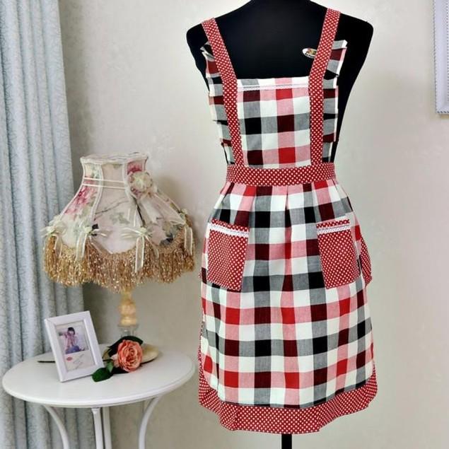 Women Lady Home Kitchen For Pocket Cooking Cotton Apron Bib