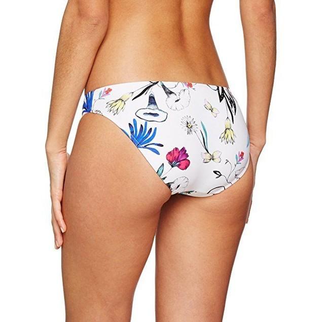 Seafolly Women's Flower Festival Hipster Bottom White Swimsuit Bottoms sz:4