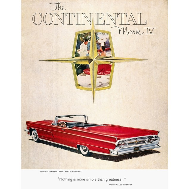 Ford Avertisement, 1959. /Namerican Magazine Advertisement For Ford'S Linco