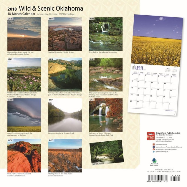 Oklahoma Wild & Scenic Wall Calendar, More U.S. States by Calendars