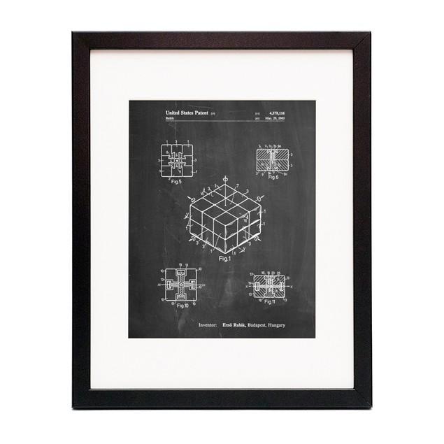 Rubik's Cube Patent Poster