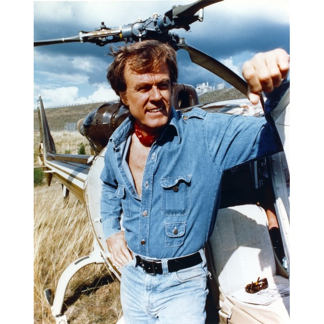 Robert Culp Posed in Blue Denim Jacket Poster