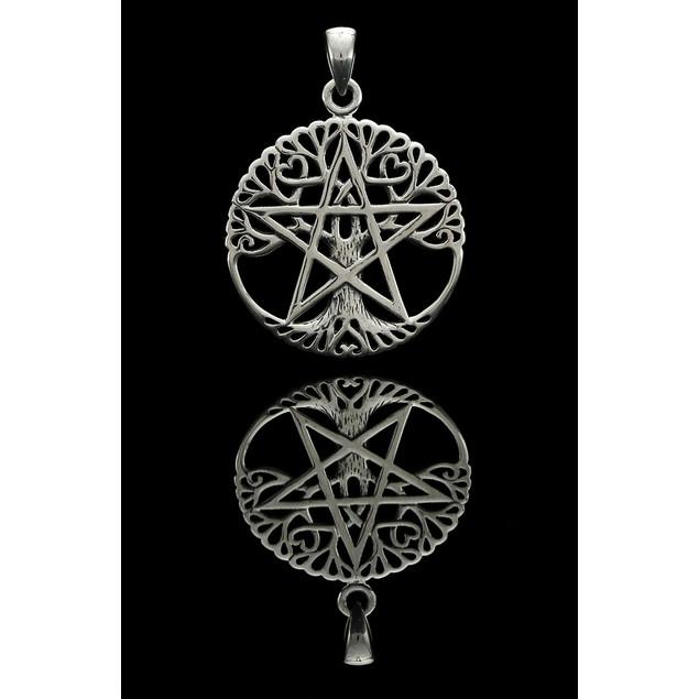 Sterling Silver Tree Of Life Pentacle Pendant Individual Pendants