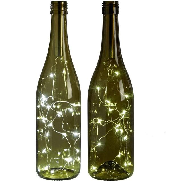 15 LED Bottle Light Fairy Lights Battery Kit Top Wedding Decoration