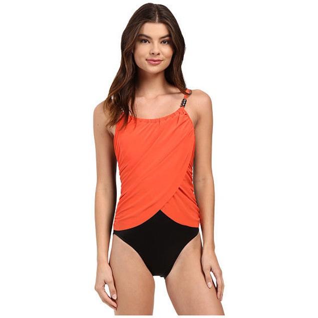 NWT Women's Magicsuit Solids Lisa One-Piece, Flamingo SIZE 8