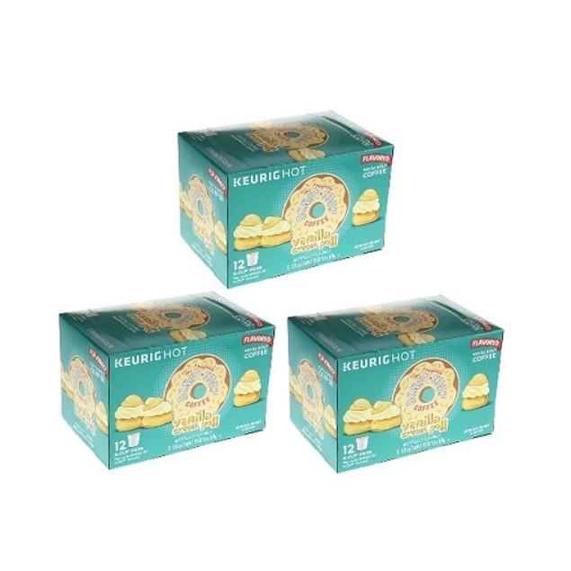 The Original Donut Shop Vanilla Cream Puff Coffee Keurig K Cup 3 Box Pack