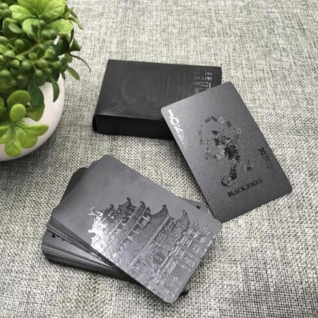24K Black Diamond Playing Card