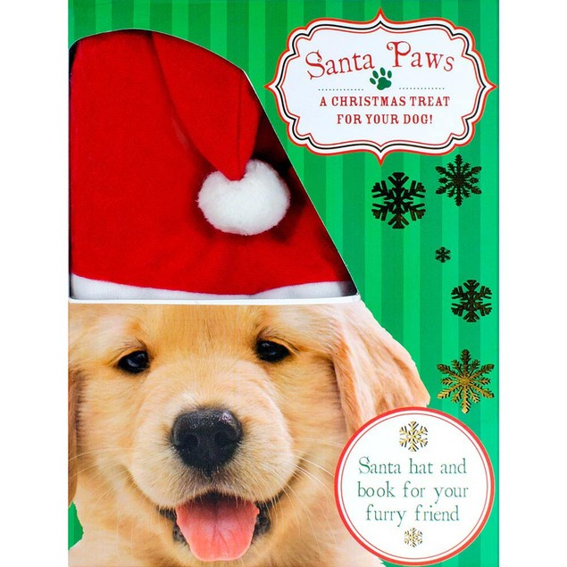 Santa Paws Hat and Book Set, Cute Puppies by Parragon Books