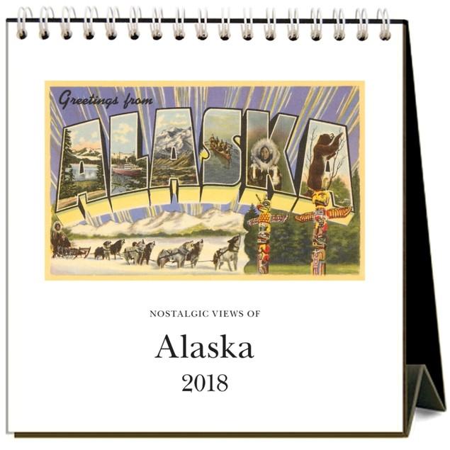 Alaska Nostalgic Easel Calendar, Alaska by Found Image Press