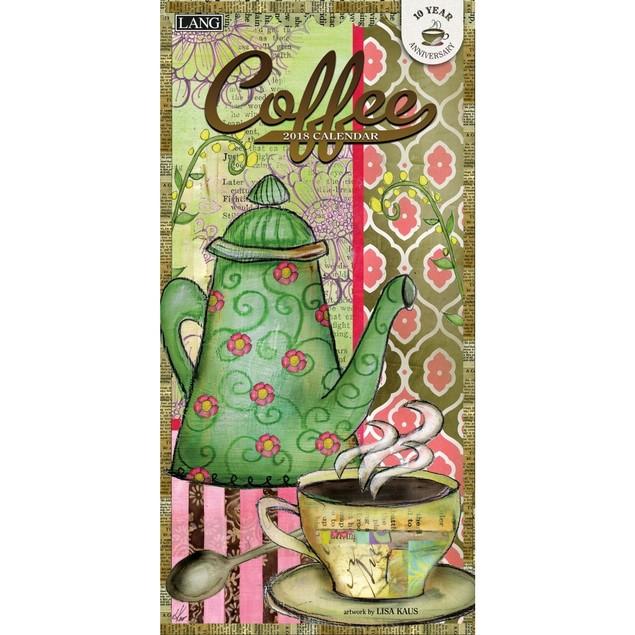 Coffee Slim Wall Calendar, Coffee & Tea by Calendars