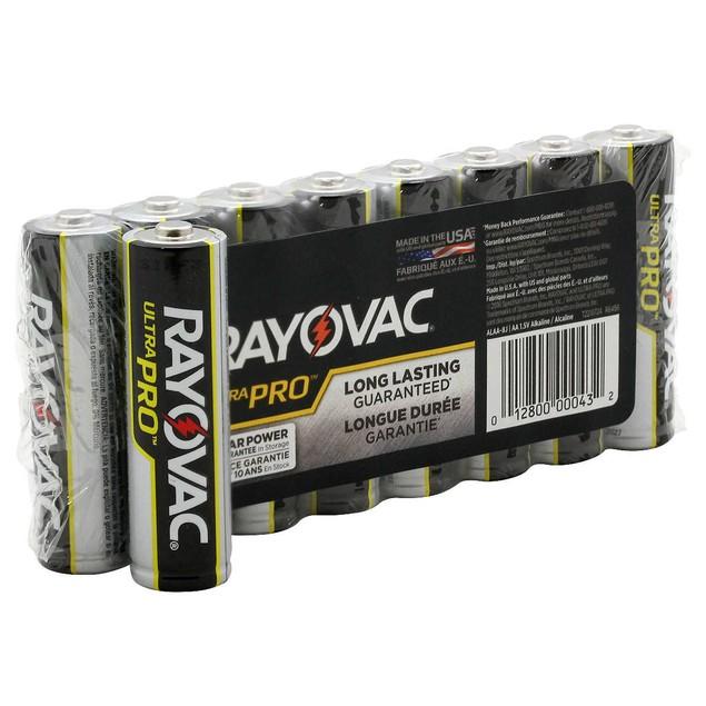 Rayovac Ultra Pro Alkaline AA Batteries (8 Batteries)