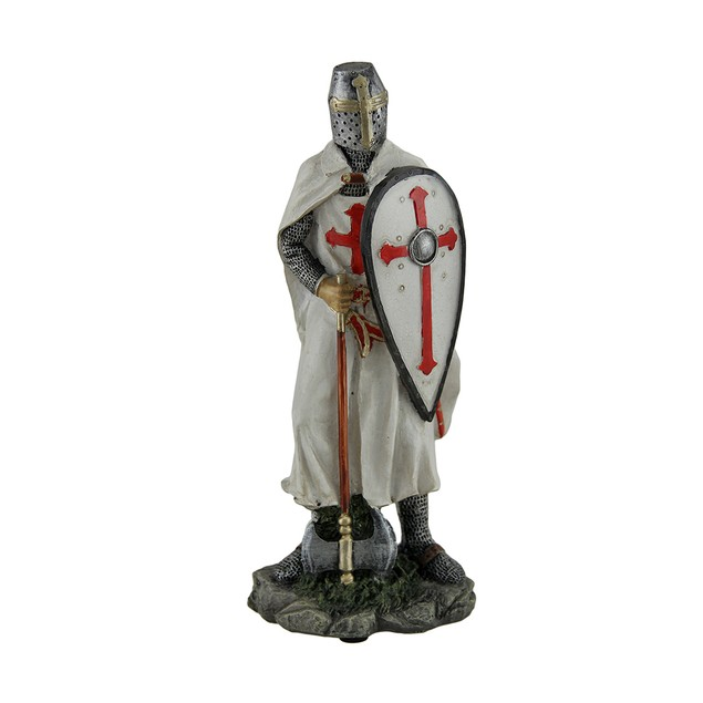 Knights Templar Medieval Armored Crusader With Statues
