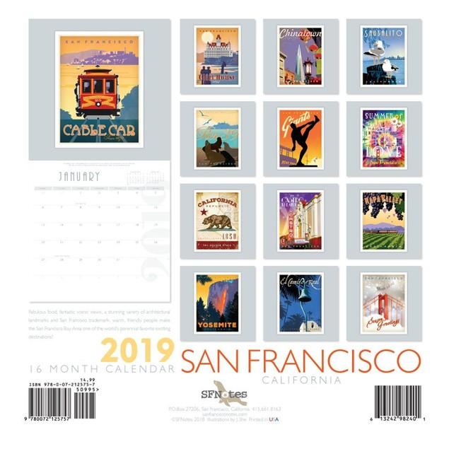 San Francisco Wall Calendar, San Francisco by SFNotes