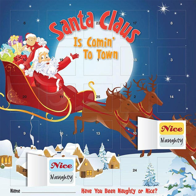 Santa Claus Is Comin To Town Advent Calendar, Advent Calendars by Calendars