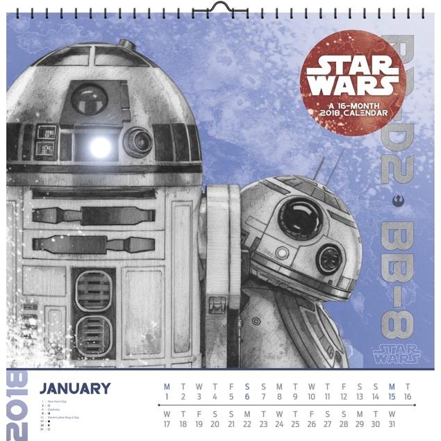 Star Wars Episode VIII Art Wall Calendar, Star Wars by Trends International