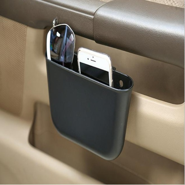 Garbage Catcher Storage Organizer Box Car Seat Slit Pocket @1