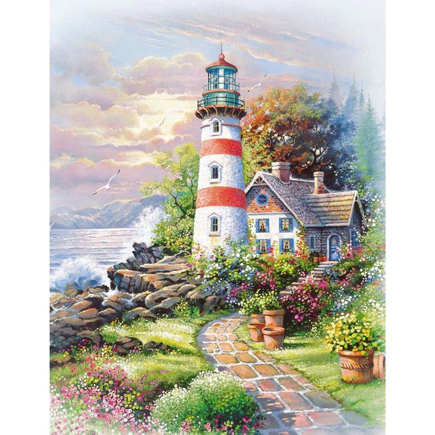 Signal Point 500 Piece Puzzle, Lighthouse by Allied Products