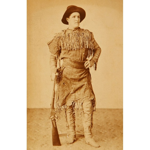 John Durfey, Frontiersman And Indian Fighter Dressed In His Dime-Novel Fine